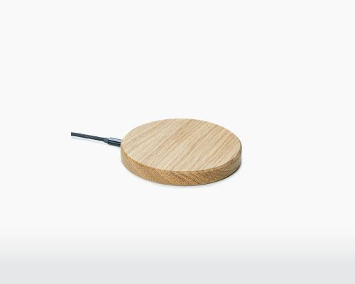 Wireless charger oak
