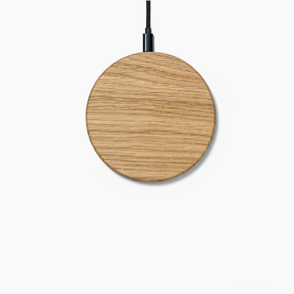 Wireless charger oak