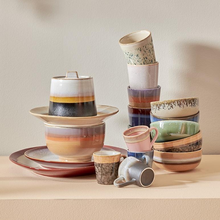 Ceramic 70's mug tornado