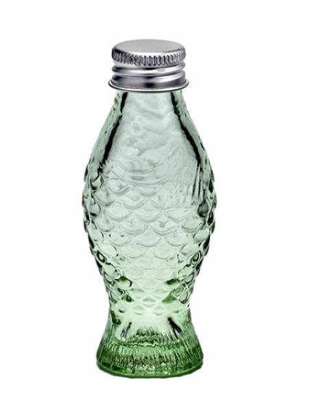 Fles met stop transparant groen