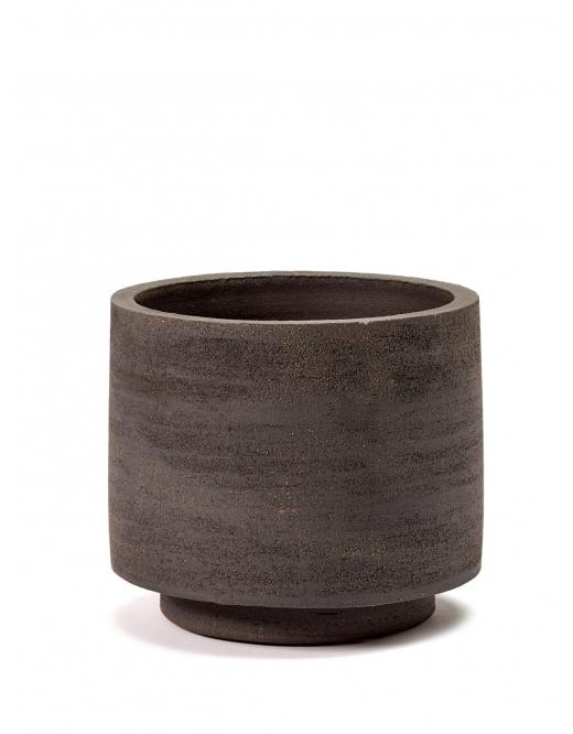 Pot cylinder zwart groot
