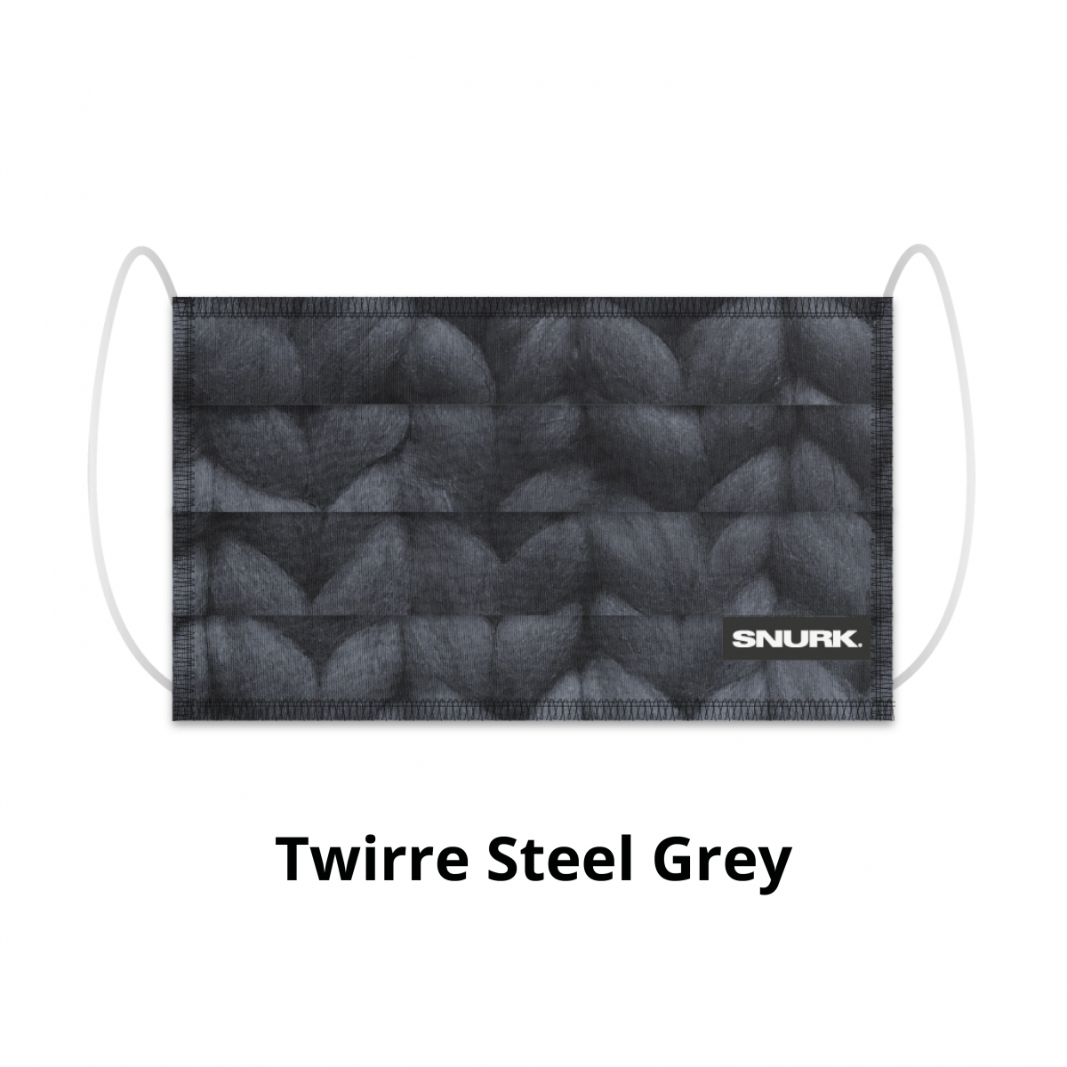 Mondkapje twirre steel grey