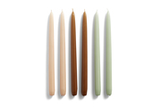 Hay Candle Conical Peach/Caramel/Mint 6st