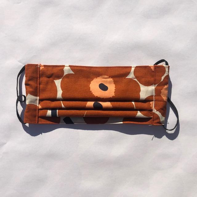KECK & LISA Mondkapje Unikko brown