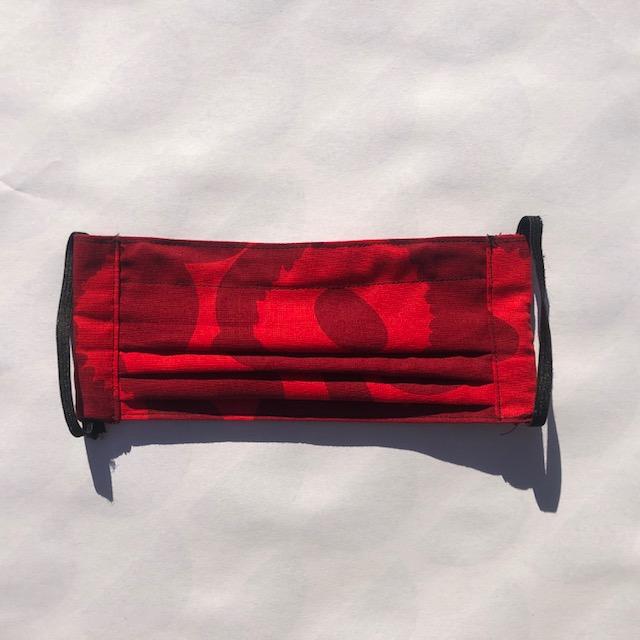 Mondkapje Unikko cotton fabric red/dark