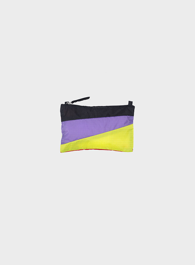 Pouch Black & Lilac & Fluo Yellow S