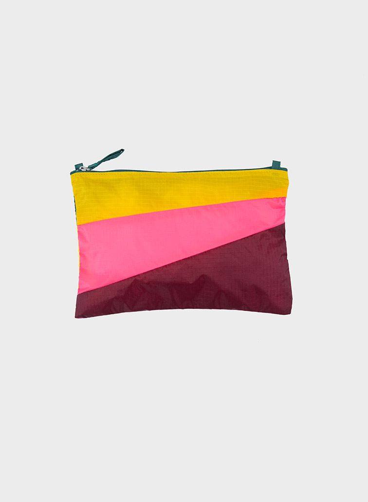 Pouch Heilo & Fluo Pink & Burgundy M