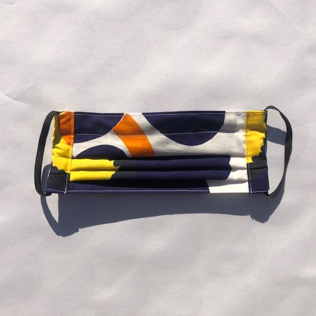 keck en lisa mondkapje Unikko blauw/oranje